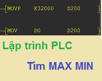 [Lập trình PLC] Tìm giá trị Min Max