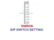 PLC OMRON DIP SWITCH SETTING – Chi Tiết