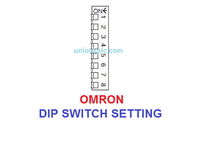 Omron DIP Switch Setting
