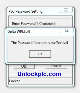 Crack PLC Delta password is ineffective